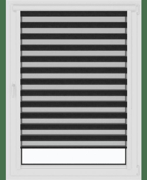 закрытые рулонные шторы день-ночь зебра