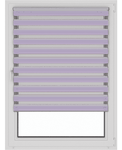 открытые рулонные шторы день-ночь зебра